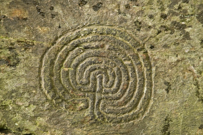 Celtic Labyrinth - The Rocky Valley, Tintagel, North Cornwall
